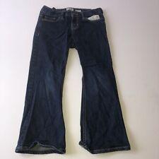 OSH KOSH-B'gosh Girls Boot Cut DARK BLUE Jeans Size 7 Plus Adjustable Waist BTS