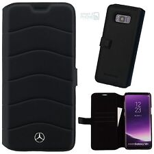 "Mercedes Samsung Galaxy s8 plus 6,2"" Echt Leder celular book case cover funda protectora"
