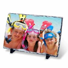 Personalised  oblong Rock Slate Photo Gift size 30x20cm Rectangle A4
