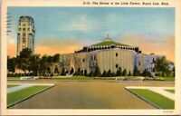 The Shrine of the Little Flower Royal Oak Michigan Old Postcard Posted 1952 A11