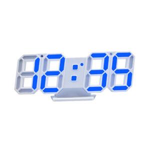 Modern Digital 3D LED Wall Clock Alarm Clock Desk Snooze 12/24 Hour Display USB