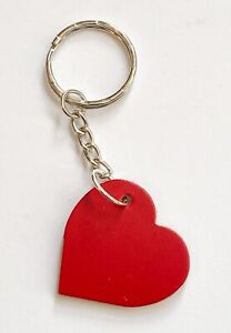 Red Leather Heart  Keyring/Bag/Purse Charm