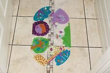 New Non slip PVC bath shower mat kids fun Jungle Animals on Clear Mat