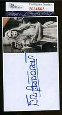 BRIGITTE BARDOT SIGNED JSA CERTIFIED 3X5 INDEX CARD AUTHENTICATED AUTOGRAPH