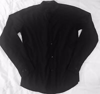 Zara Classic Urbanwear Womens Black Button Down Blouse Long Sleeve Top SZ Small