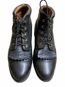 Ariat Black Leather Lace-Up Combat Ankle Boots 12201 Women's Size 7B