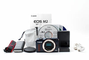 Canon EOS M2 18.0MP Digital Mirrorless Body Bay Blue Color w/ Flash [Near Mint]
