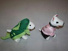 "Target Bullseye Grease Pink Puppies Fish Dog Costume 7"" LOT of 2 Plush 2012"
