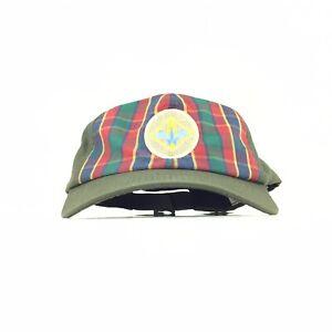 Boys Scouts USA Olive Green Baseball Cap Hat Adj. Boys Size M/L Cotton