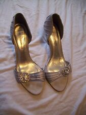 ladies size 5 silver diamante peep toe shoes dorothy perkins