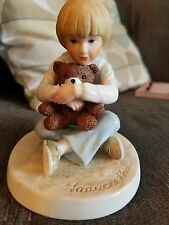 Roman Inc. Remember When Porcelain Bear Hug Figurine by Frances Hook