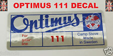 OPTIMUS STOVE 111 REPLACEMENT DECAL STICKER KEROSENE STOVE PRIMUS STOVE