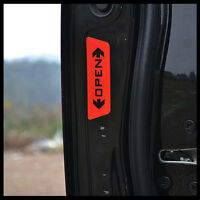4pcs Auto Door Side Opening Warning Safety Sticker Reflective Graphics Car Decal