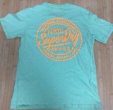New listing Men's SUPERDRY SURF TOKYO shirt medium mens box fit tee mint worldwide super dry