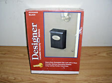 SOLAR GROUP DESIGNER LOCKABLE BLACK SECURITY MAILBOX WITH LOCK, 2 KEYS & EMBLEM