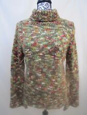Florini International Women Sweater Sz Large Multi Color Long Sleeve Turtle Neck