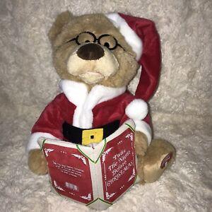 Twas The Night Before Christmas Talking Story Book Telling Teddy Bear By B&M