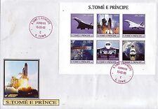5044+  CONCORDE   BLOC   1er JOUR S. TOME E PRINCIPE