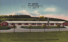 Postcard 411 Motel South Maryville TN 1958