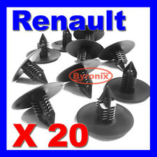 RENAULT WHEEL ARCH LINING SPLASH GUARD TRIM CLIPS Clio Scenic Megane SPRUCE X 20