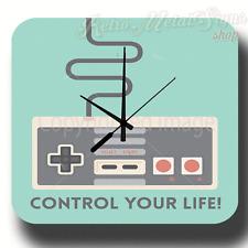 CONTROL YOUR LIFE VINTAGE RETRO GAMING METAL TIN SIGN WALL CLOCK