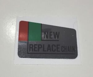 """HONDA CB750 FOUR F2 SUPER SPORT """"NEW REPLACE CHAIN""""REPRODUCTION DECAL"""