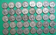 1- FULL MIXED ROLL OF 40 WASHINGTON SILVER QUARTERS. $10.00 FACE VALUE. #9