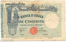 BANCONOTA 50 LIRE FASCETTO CON MATRICE 16 LUGLIO 1935