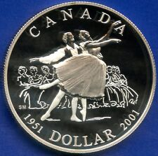 2001 Canada Proof Silver Dollar (National Ballet 50th) 25.175 Grams .925