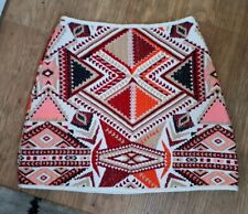 Topshop 10 Ladies  Stitched Mini Skirt