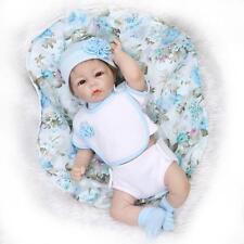 "52cm/21"" bebe Reborn Baby Doll Lifelike Soft Half vinyl body Boy Doll handmade A"