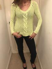 Zara Lime Verde TRECCIA Maglione Taglia S