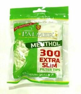 4X300 Palmer Menthol Extra Slim Filter Tips Rolling Smoking Filters Cool Menthol