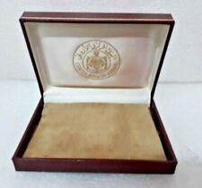 Vintage Jordan coin medal central bank set box case cover Swiss made rare