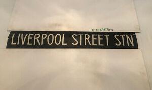 "London Linen Destination Bus Blind 73 42"" - Liverpool Street Station"
