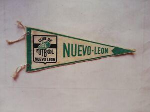 Vintage Mexican NUEVO LEON SOCCER TEAM FUTBOL liga mx pennant Flag from 60's