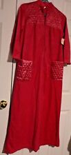 VINTAGE ZAYRE CO PINK WOMEN'S WINTER LONG NIGHTGOWN HOUSE GOWN SIZE S (8-10)