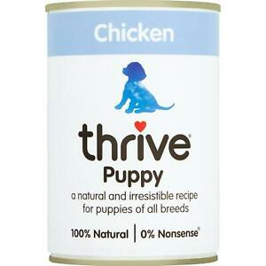Thrive Puppy Wet Food Complete Chicken 100% Natural Meat & Grain Free - 400g Tin