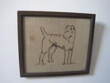 Antique Airedale Terrier Sampler Stitch work needle craft