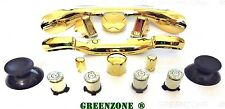 CUSTOM XBOX 360 CONTROLLER BULLET pulsanti Abxy + Trim & FULL MOD KIT Gold Chrome