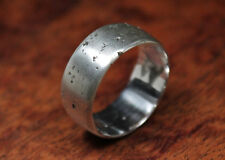 Matt Ring, Textured Band, Sterling Silver Ring, Sand Cast Ring, Rustic Band