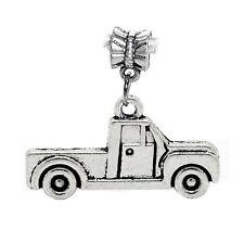 Pickup Truck Car Vehicle Driving Dangle Charm for Silver European Bead Bracelets