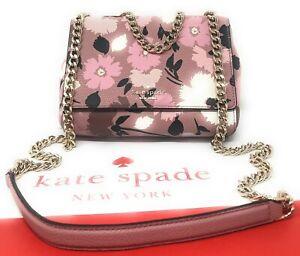 Kate Spade Mini Emelyn Gala Floral Briar Lane Chain Crossbody Shoulder Bag Pink