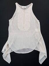 3.1 Phillip Lim Linen White Cream Tank Top Womens Size XS Sleeveless