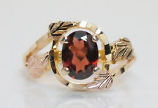 10K/12K  Multi-Toned Rose Green Yel Gold Diamond Cut 1 Carat Garnet Ring