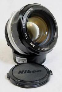Nikon Ai Nikkor-S Auto 55mm f/1.2 Lens w/ Original Caps - MUST SEE! (34371)
