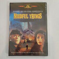 Needful Things (DVD, 2002) Ed Harris, Max Von Sydow, Bonnie Bedelia NEW OOP RARE