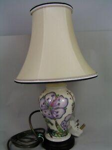 MOORCROFT CRANESBILL LAMP AND SHADE.