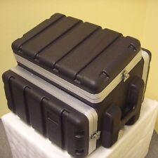 """6/4/6 HE 19"""" ABS-Kunststoff Kombicase Winkelrack L-Rack DJ-Case Workstation NEU"""