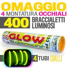 400 BRACCIALETTI LUMINOSI GIALLI bracciali starlight fluo glow disco dj  30181